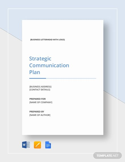 Strategic Communications Plan Template Lovely Simple Strategic Munication Plan Template Download 328