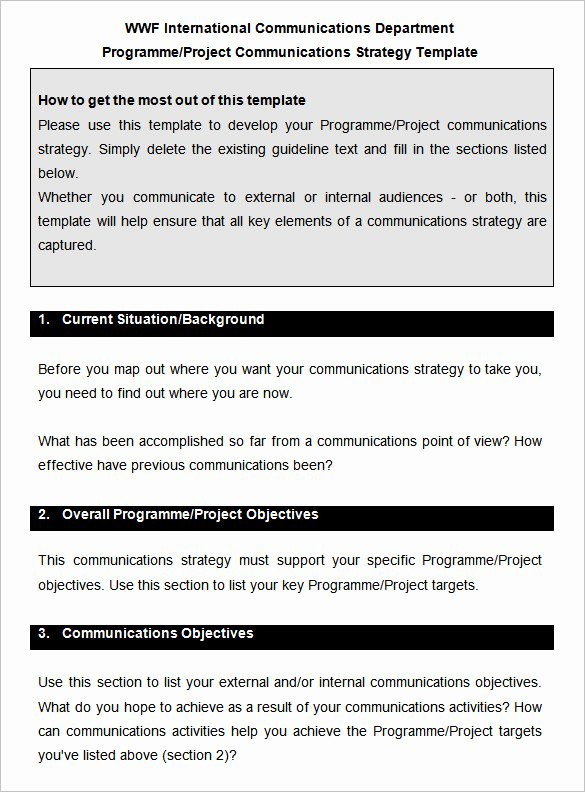 Strategic Communications Plan Template Luxury 10 Munication Strategy Templates Free Word Pdf