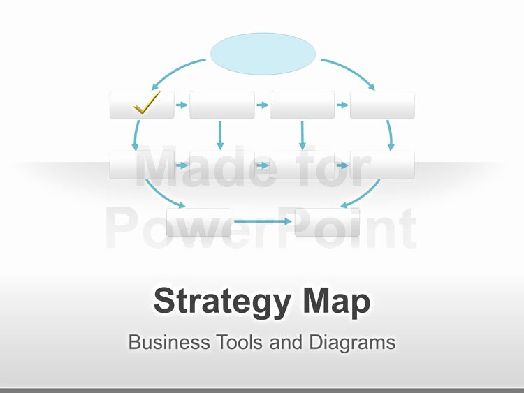 Strategic Plan Powerpoint Template New Strategy Map Editable Powerpoint Template