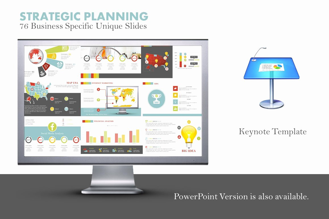 Strategic Plan Ppt Template Awesome Strategic Planning Keynote Template Presentation