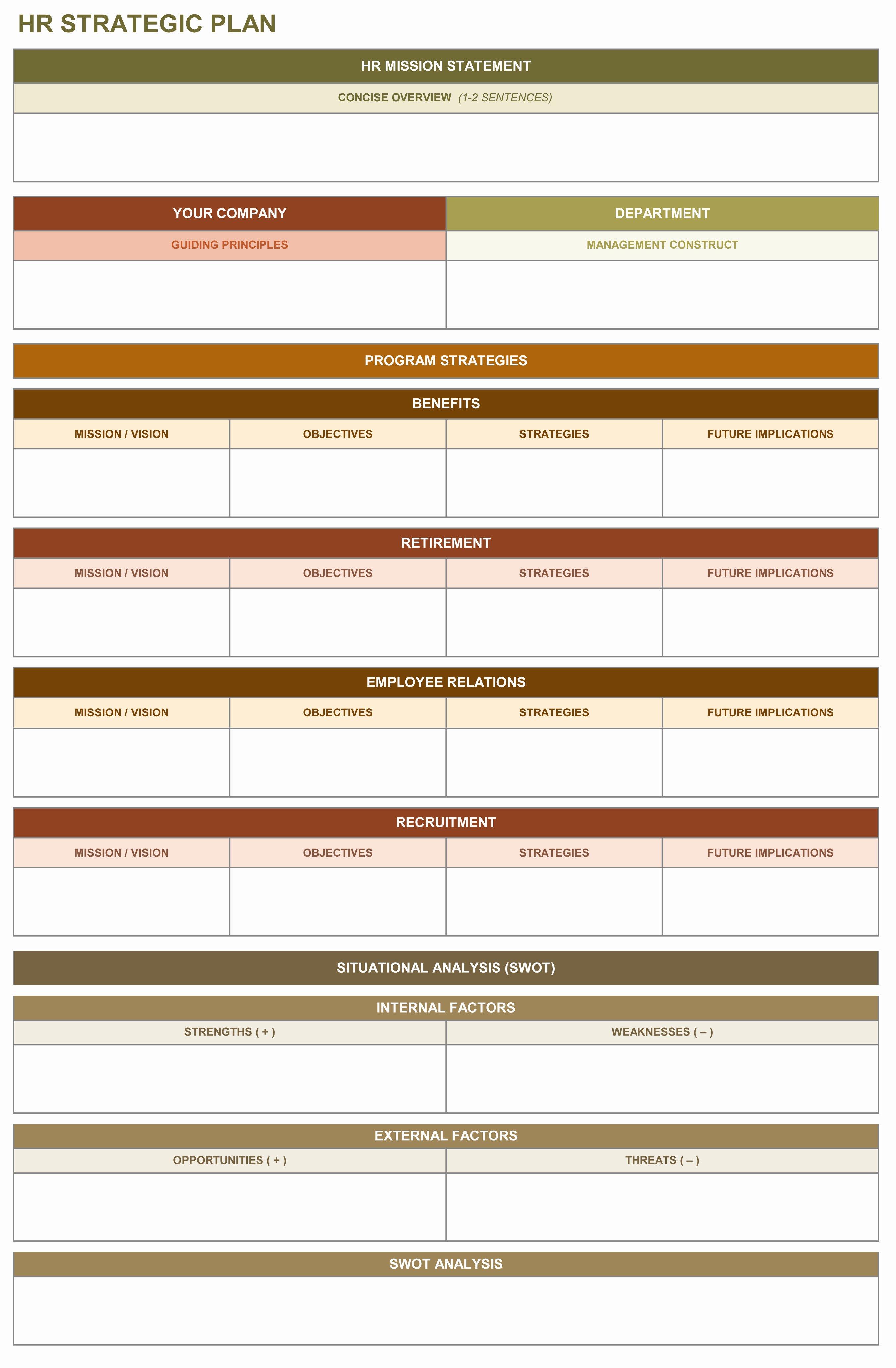 Strategic Plan Template Excel Awesome 9 Free Strategic Planning Templates Smartsheet