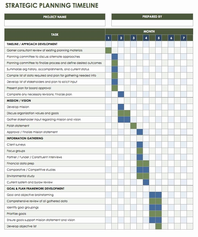 Strategic Plan Template Excel Best Of Free Blank Timeline Templates
