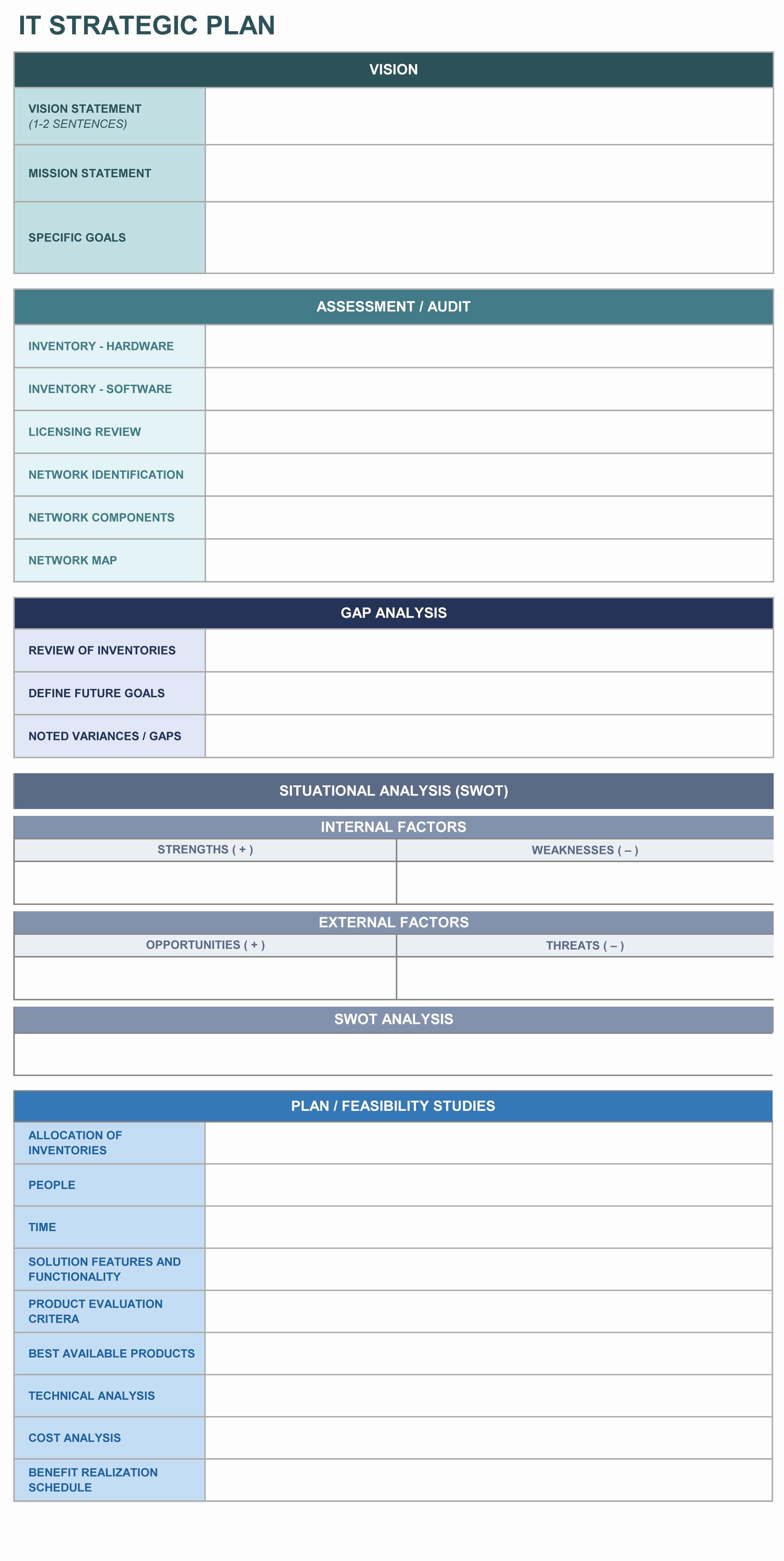 Strategic Plan Template Excel Lovely 9 Free Strategic Planning Templates Smartsheet