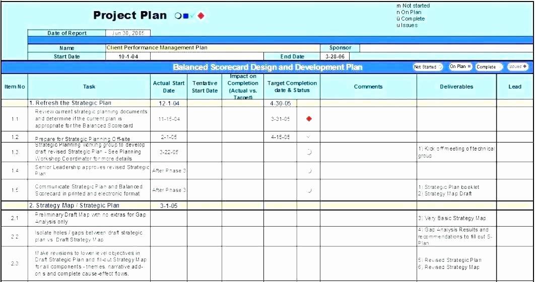 Strategic Plan Template Excel Lovely Strategic Planning Calendar Template – Hafer