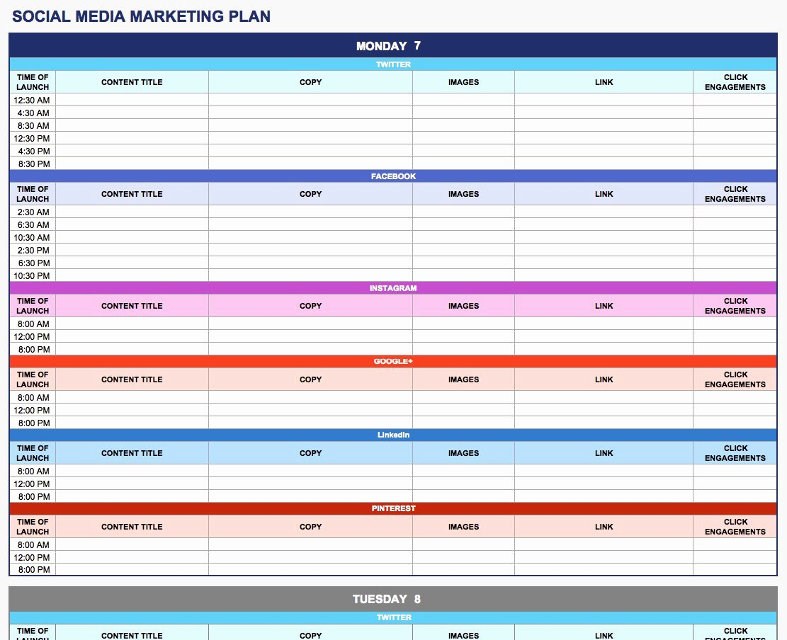 Strategic Plan Template Excel Luxury Free Marketing Plan Templates for Excel Smartsheet