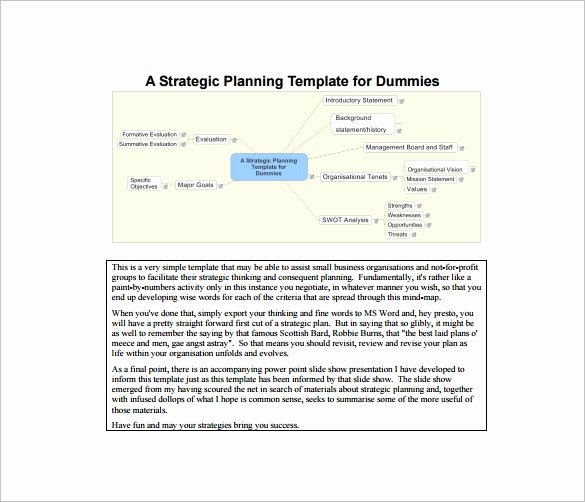 Strategic Plan Template for Nonprofits Awesome 22 Strategic Plan Templates Free Word Pdf format