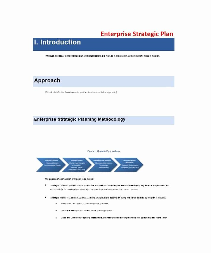Strategic Plan Template Free Beautiful 32 Great Strategic Plan Templates to Grow Your Business