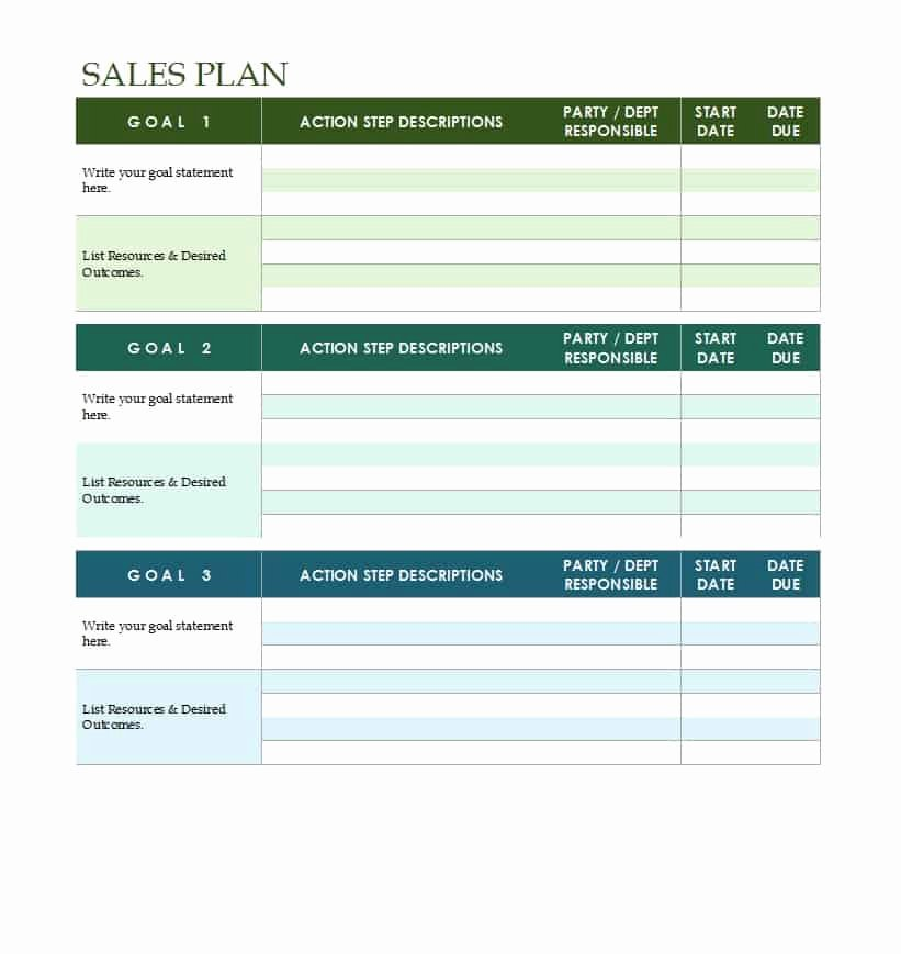 Strategic Plan Template Free Elegant 32 Sales Plan & Sales Strategy Templates [word & Excel]