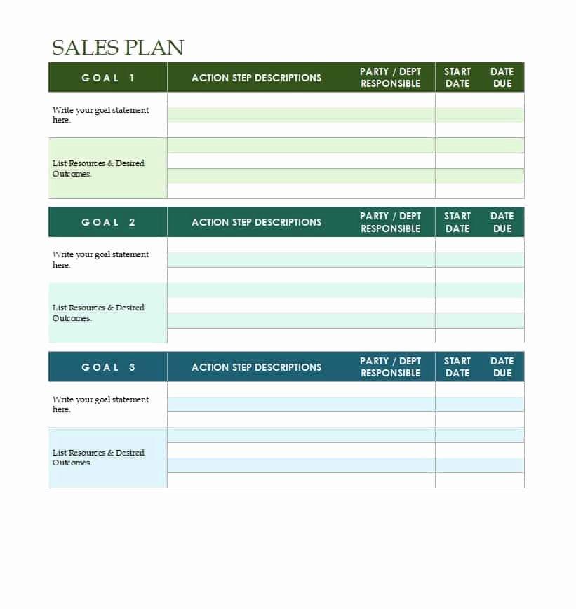 Strategic Plan Template Free Elegant 32 Sales Plan & Sales Strategy Templates [word & Excel]