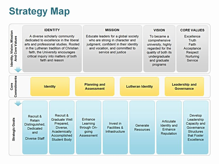 Strategic Plan Template Free Unique Editable Powerpoint Strategy Map Template