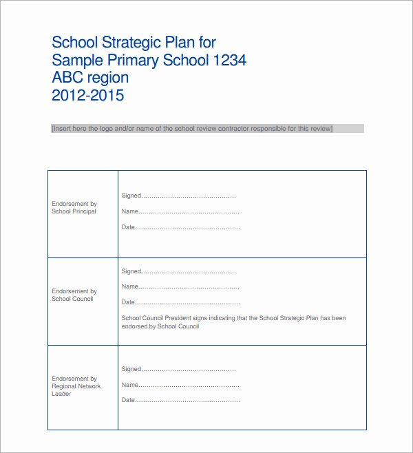Strategic Plan Template Word Best Of 30 Strategic Plan Templates Pdf Word