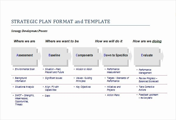 Strategic Plan Template Word Fresh Free Strategic Plan Template