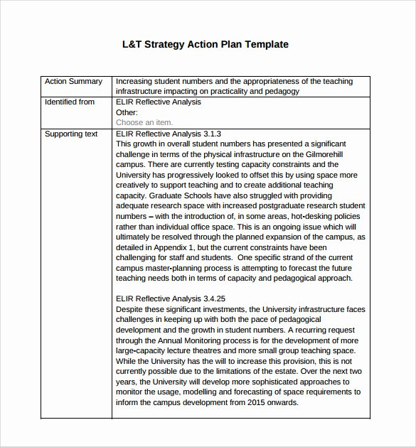 Strategic Plan Template Word Lovely 10 Sample Strategic Action Plans