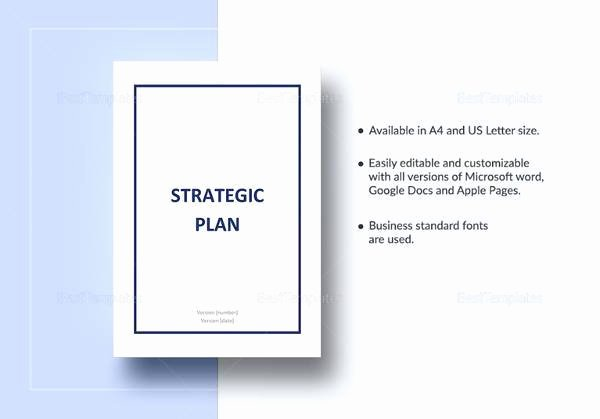 Strategic Plan Template Word Lovely 30 Strategic Plan Templates Pdf Word