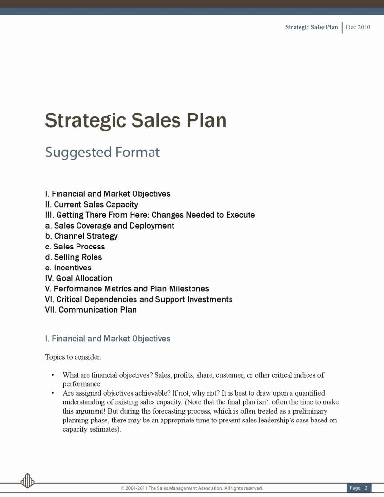 Strategic Sales Plan Template Awesome 5 Sales Strategic Plans
