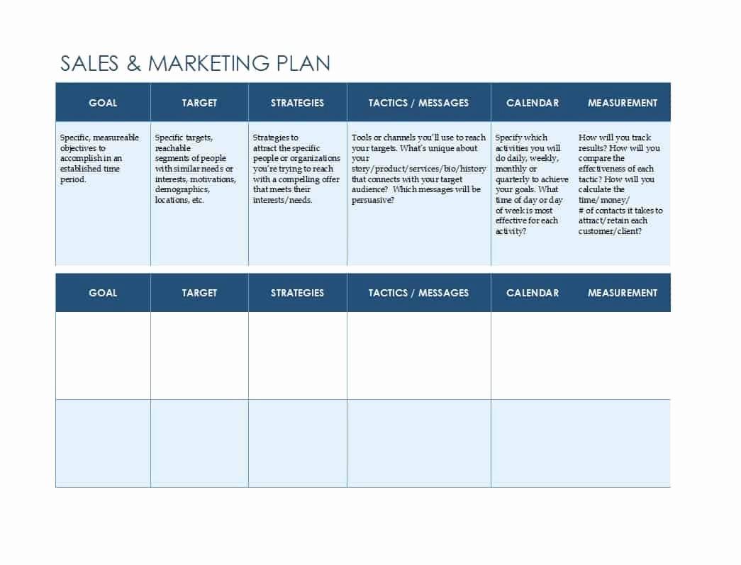 Strategic Sales Plan Template Fresh Marketing Plan Spreadsheet Spreadsheet Downloa Marketing