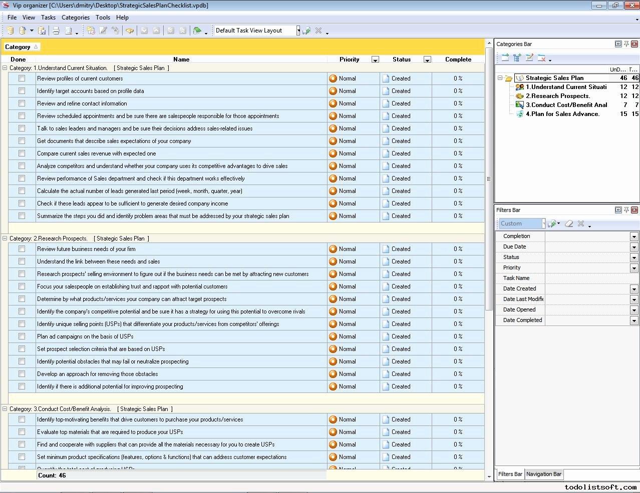 Strategic Sales Plan Template Unique Strategic Sales Plan Checklist to Do List organizer
