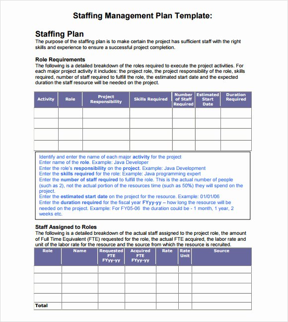 Strategic Staffing Plan Template Awesome 7 Staffing Model Samples