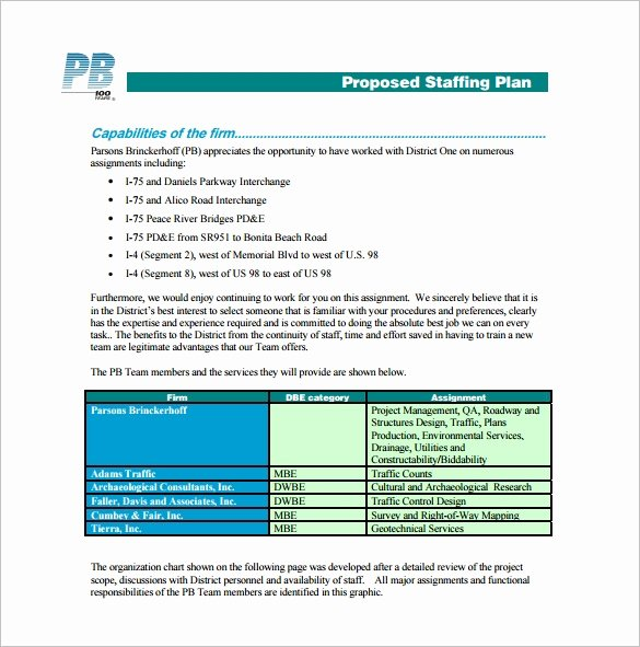 Strategic Staffing Plan Template Best Of 12 Staffing Plan Templates Free Sample Example format