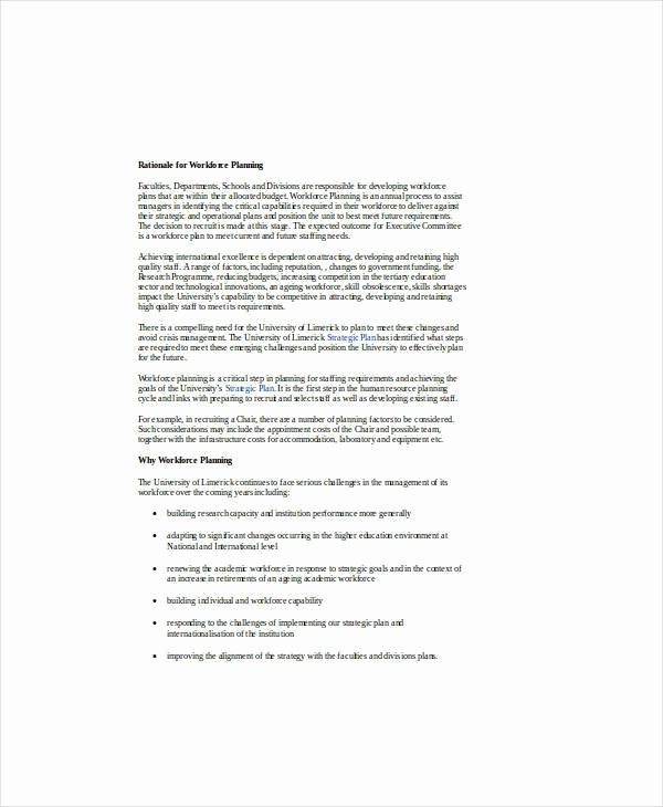 Strategic Workforce Plan Template Beautiful 9 Hr Operational Plan Samples & Templates – Pdf