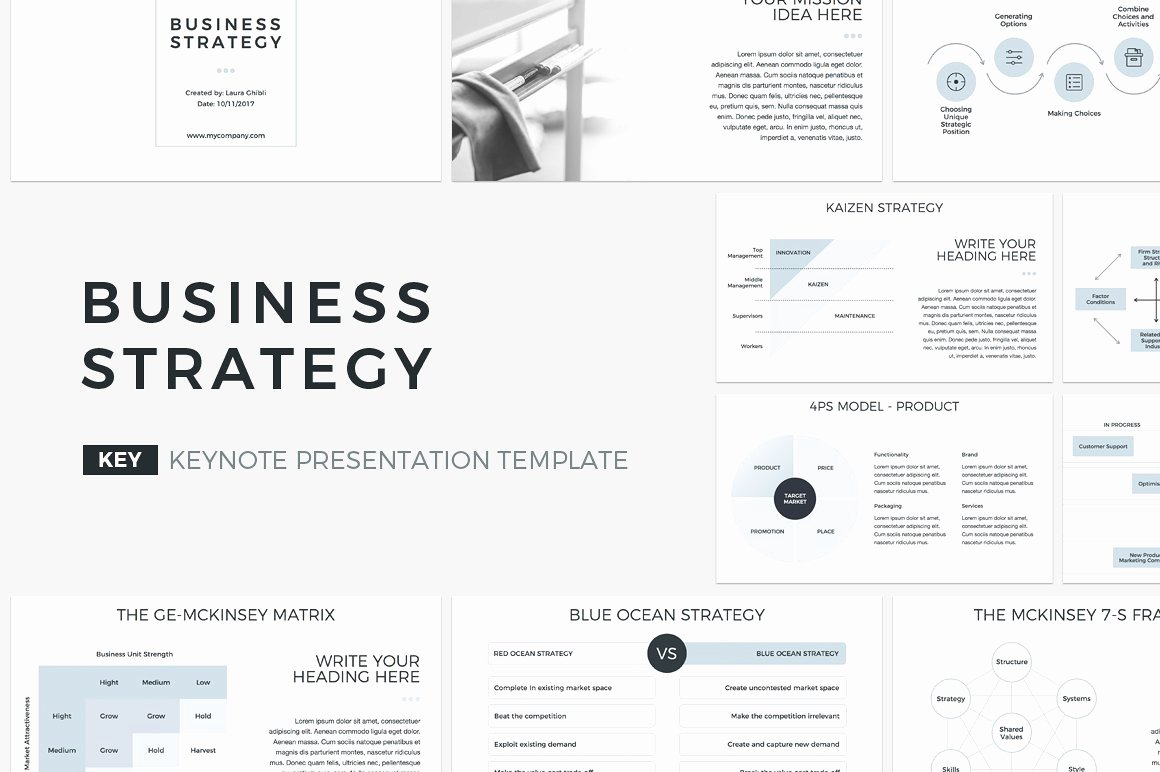 Strategy Business Plan Template Beautiful Business Strategy Keynote Template Presentation