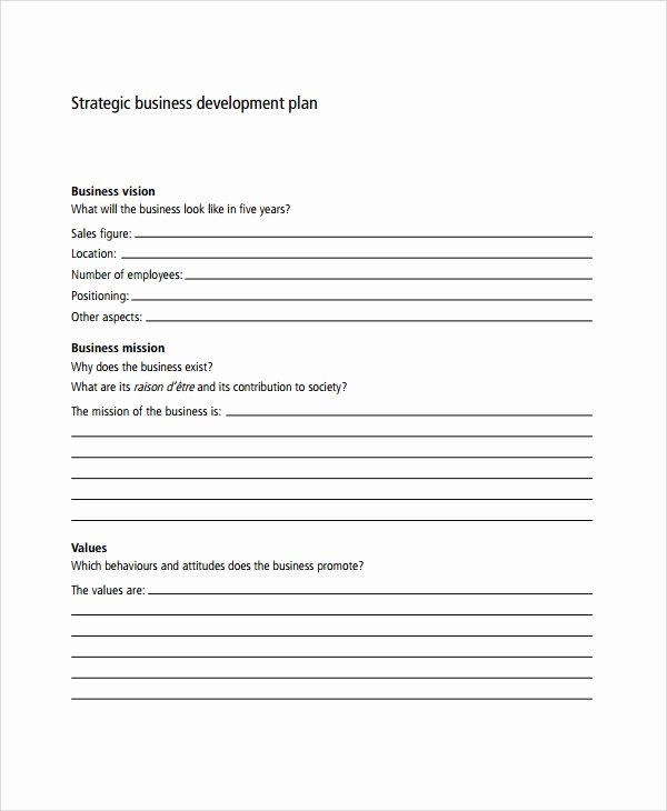 Strategy Business Plan Template Best Of 7 Business Development Plan Templates