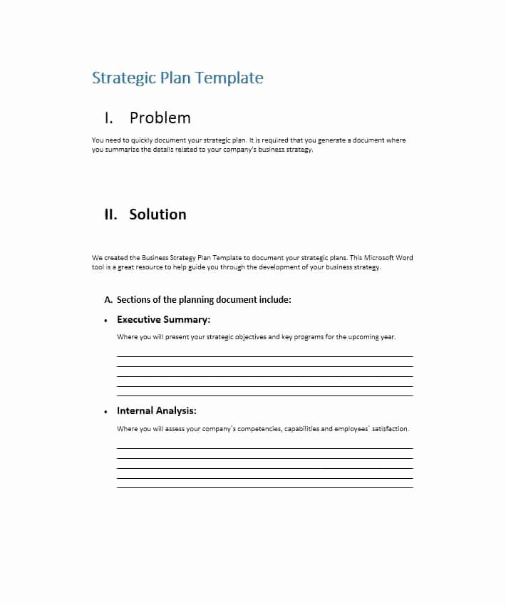 Strategy Business Plan Template Inspirational 32 Great Strategic Plan Templates to Grow Your Business