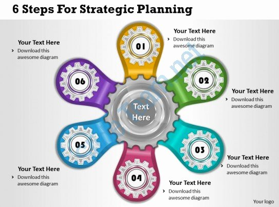 Strategy Business Plan Template Unique 1013 Business Ppt Diagram 6 Steps for Strategic Planning