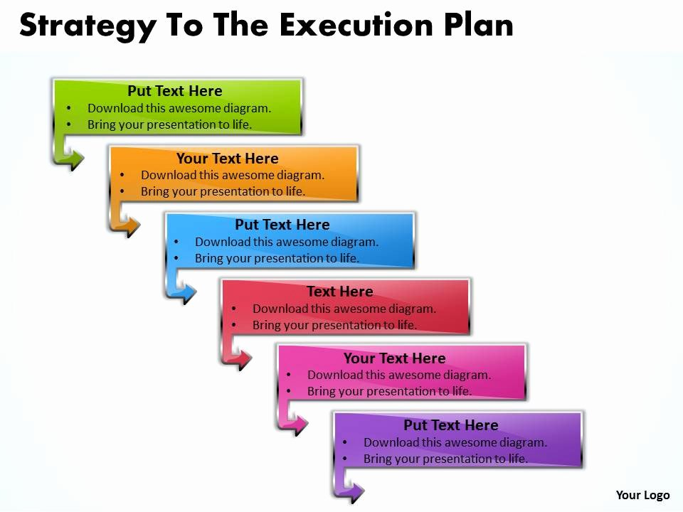 Strategy Plan Template Powerpoint New Business Powerpoint Templates Strategy to the Execution