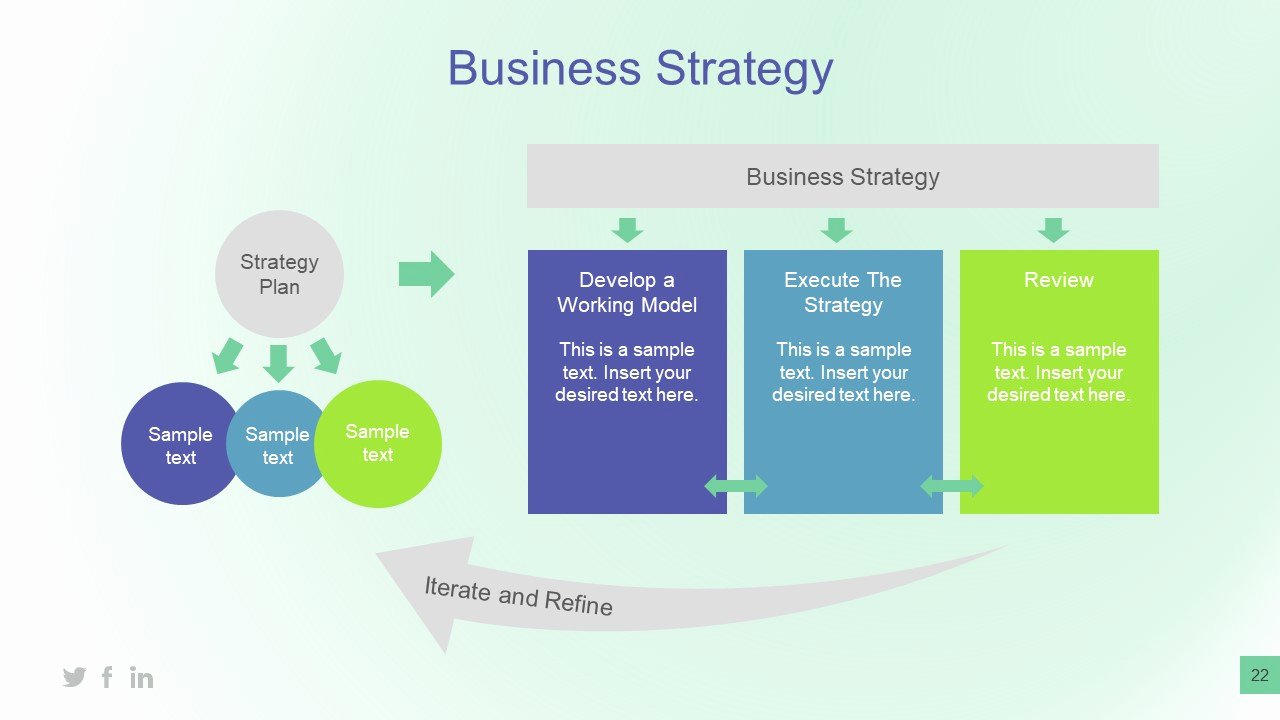 Strategy Plan Template Powerpoint Unique Business Plan and Strategy Presentation Slidemodel