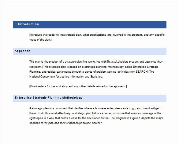Strategy Plan Template Word Luxury 28 Strategic Plan Templates Pdf Docs