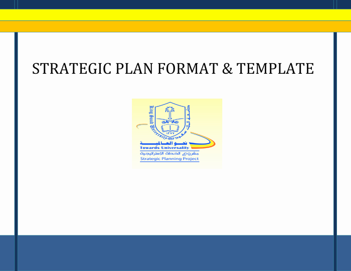 Strategy Plan Template Word Luxury Strategic Plan format and Template In Word and Pdf formats
