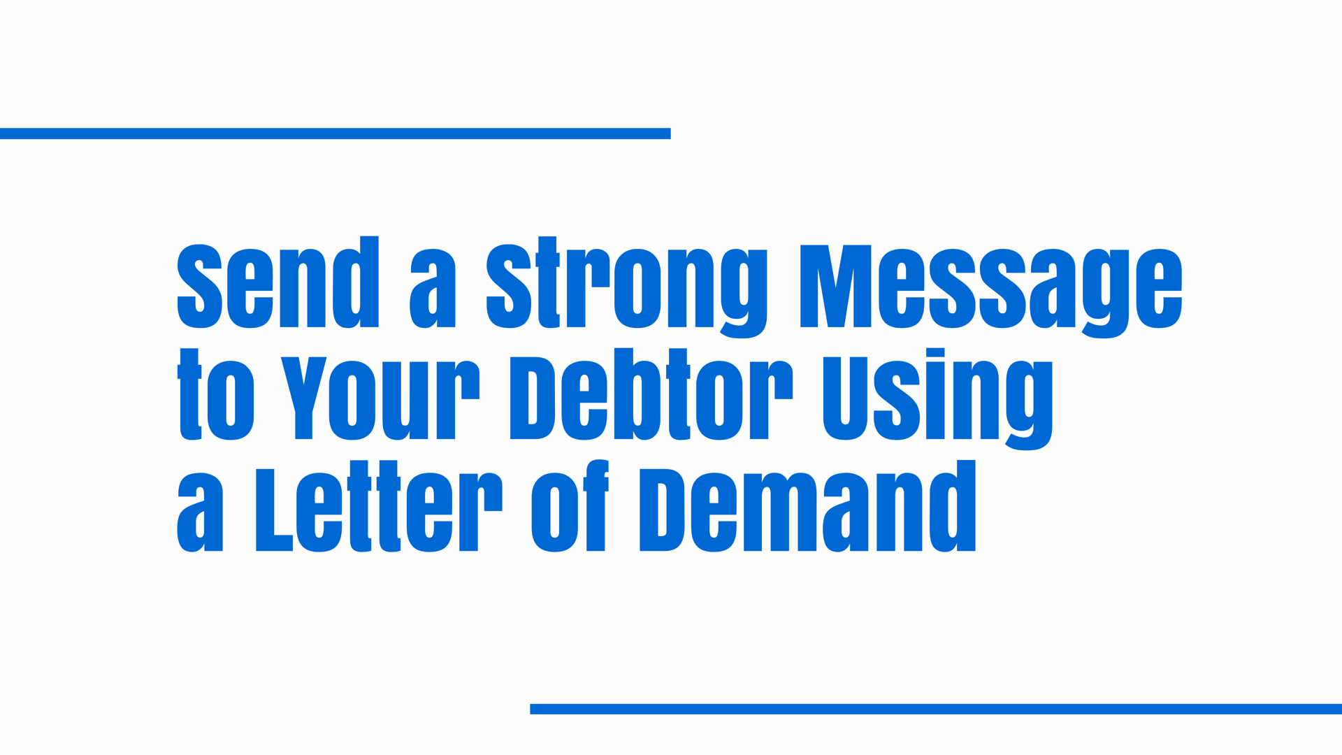 Strong Demand Letter for Payment Fresh Send A Strong Message to Your Debtor Using A Letter Of