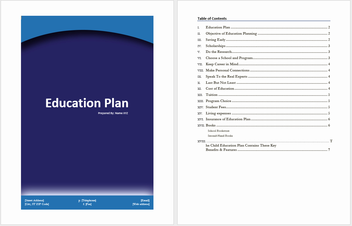 Student Education Plan Template Fresh Education Plan Template – Microsoft Word Templates