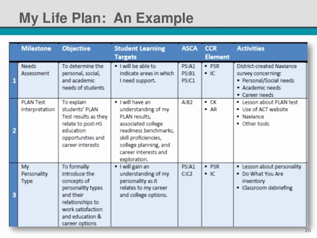 Student Education Plan Template Inspirational Nsi 2014 Standardized Individual Learning Plans It S