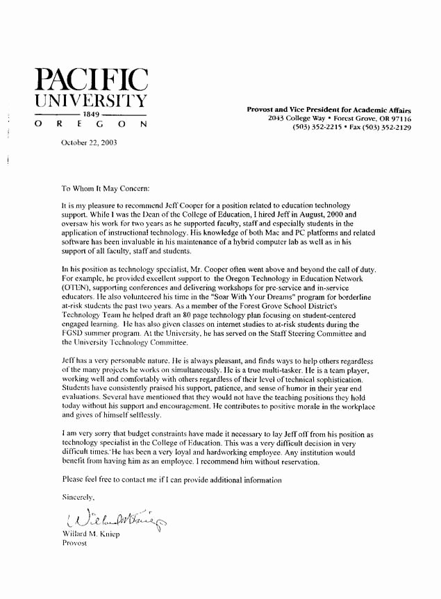 Student Recommendation Letter From Teacher Unique Good Reference Letter for Teachers Letter Of