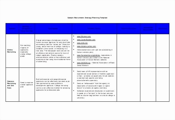 Student Recruitment Plan Template Awesome Recruitment Plan Template Sample Recruitment Plan Action