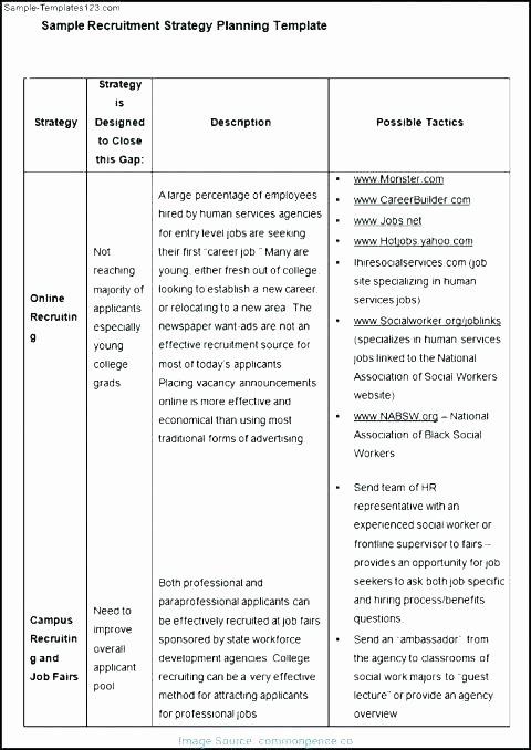 Student Recruitment Plan Template Awesome Volunteer Recruitment Strategy Template – Tracenumberr