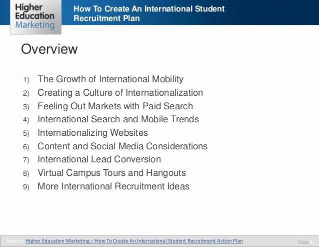 Student Recruitment Plan Template Beautiful How to Create An International Student Recruitment Plan