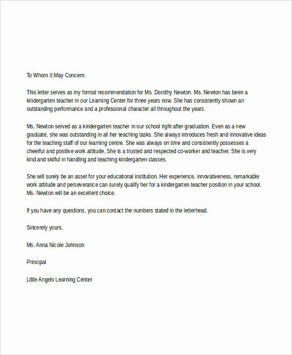 Student Teacher Recommendation Letter Best Of 7 Teacher Reference Letters Free Samples Examples