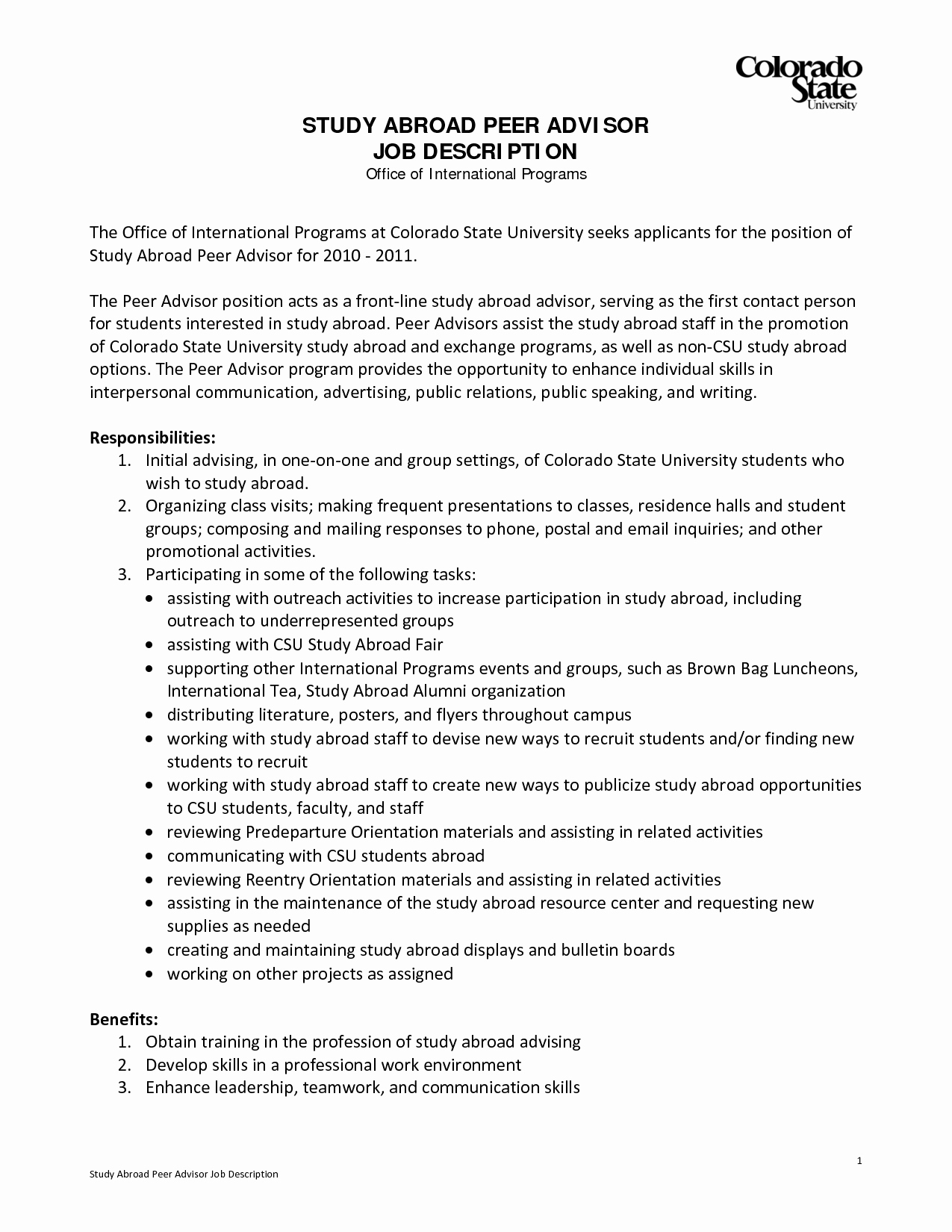 Study Abroad Recommendation Letter Beautiful Example Resume Study Abroad Coordinator Bongdaao