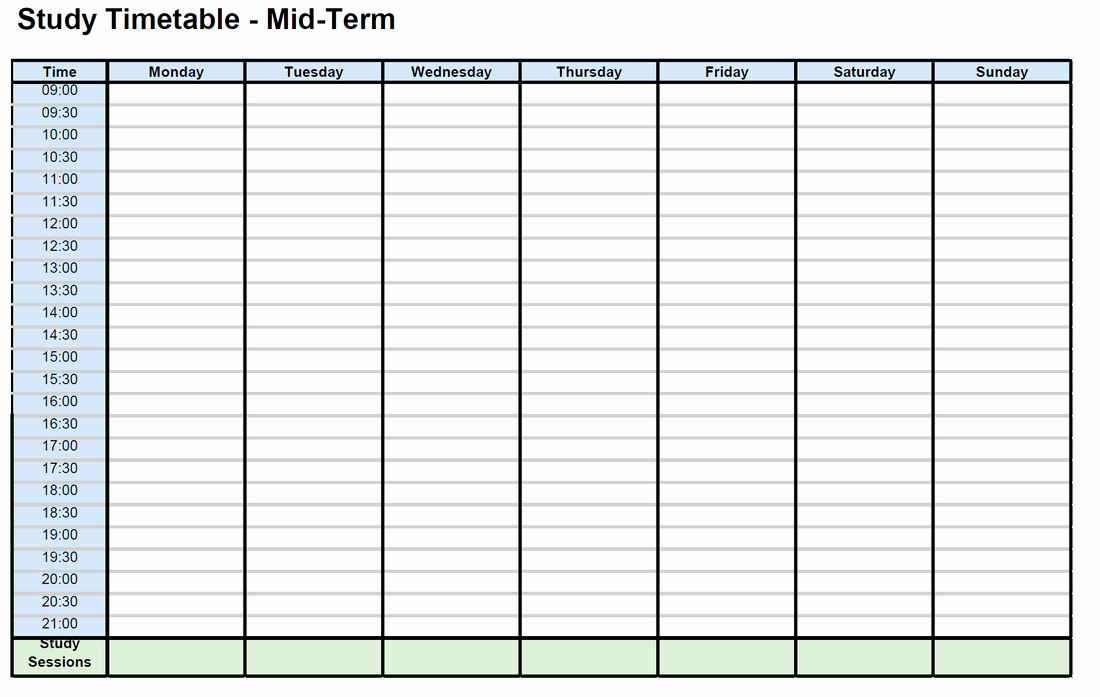 Study Plan Template for Students Awesome Study Timetables St Colmcille S Cs