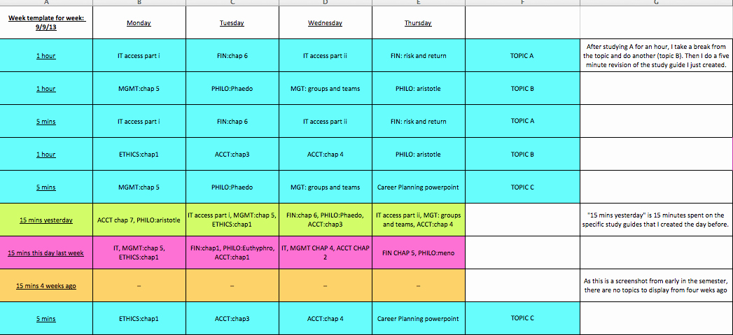 Study Plan Template for Students Beautiful Study Plan Template