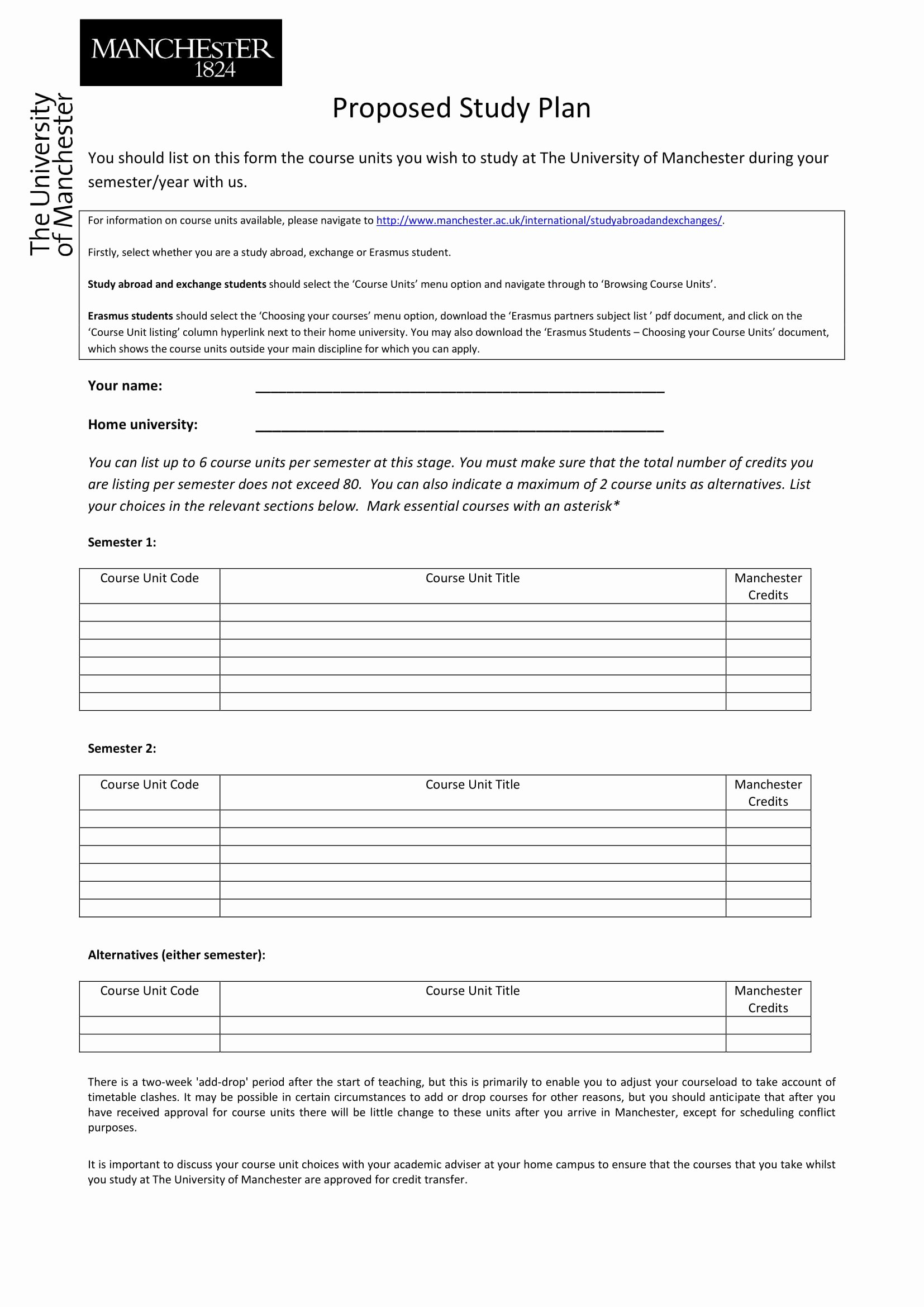 Study Plan Template for Students Inspirational 9 Study Plan Templates and Examples Pdf