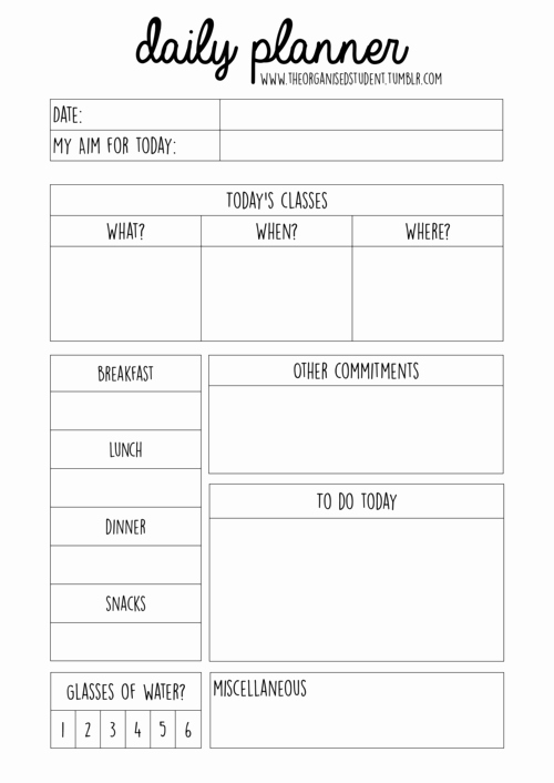 Study Plan Template for Students Inspirational Free Printables