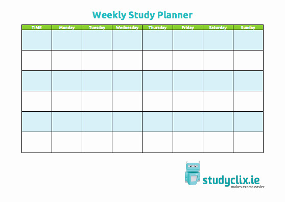 Study Plan Template for Students Unique 5 Best Of Printable Study Calendar Study