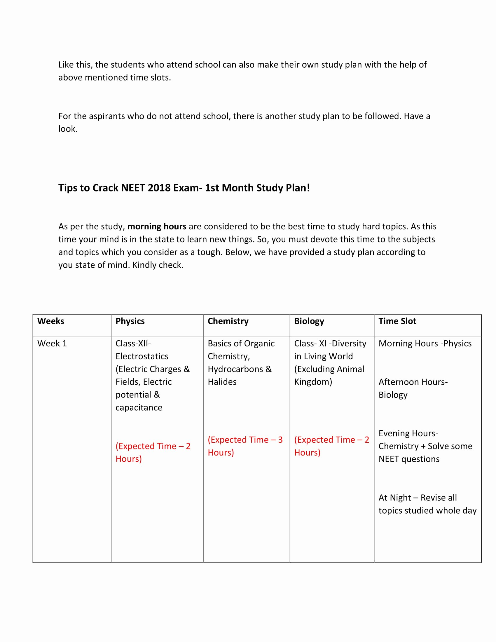 Study Plan Template for Students Unique 9 Study Plan Templates and Examples Pdf