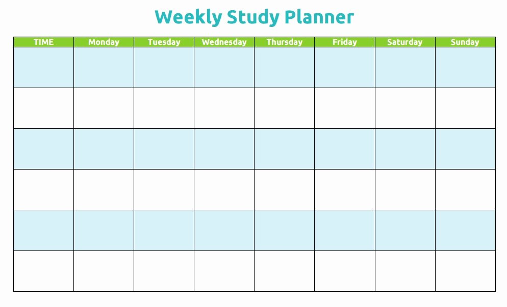 Study Plan Template for Students Unique 9 Study Planner Templates & Examples Pdf