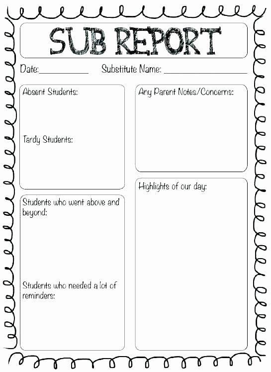 Sub Lesson Plan Template Elegant Substitute Teacher Plans Template Single Subject Lesson