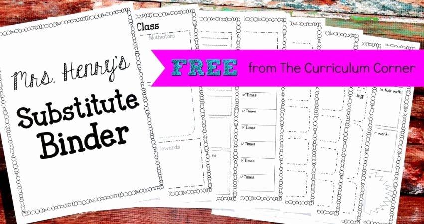 Sub Lesson Plan Template Unique Editable Substitute Planning Binder the Curriculum